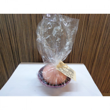 Vonný kámen s miskou 89100900 - růžový s fialovou miskou