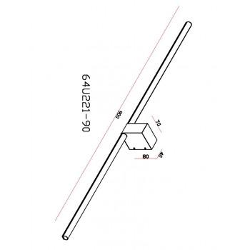 Lucide SIRIUS - koupelnové svítidlo nad zrcadlo - Ø 1,6 cm - stmívatelné - 2x4W 3000K - IP54 - Bílá 23257/08/31