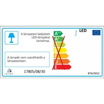 LUCIDE 17805/08/30 TIXIS LED venkovní svítidlo. Svítidlo 2x4W AC LED, 438lm, 2700K. LED zdroje jsou součástí svítidla. IP54. Mat