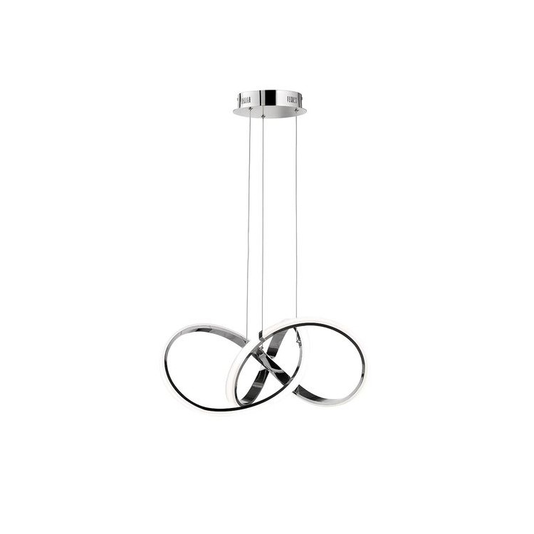 Závěsné svítidlo Indigo 1x42W, 2700lm, 3000K LED chrom - WOFI