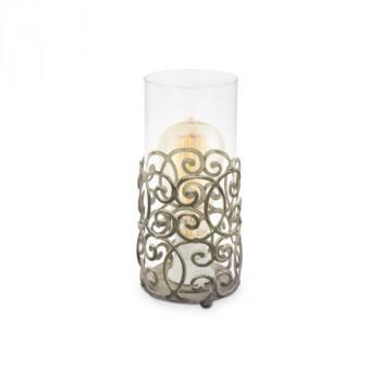 Stolní lampička Eglo 49274 ze série CARDIGAN1x60W E27. Materiál kov v hnědé patině a čiré sklo. Označení: CARDIGAN,V