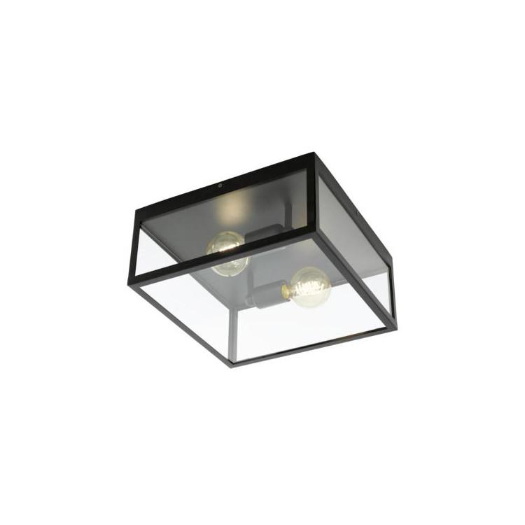 EGLO 49392 CHARTERHOUSE stropní svítidlo 2x60W E27. Materiál kov v černé barvě a čiré sklo. Označení: CHARTERHOUSE, Výrobc