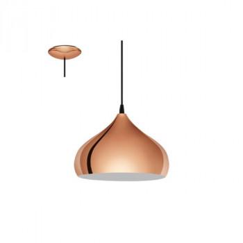 EGLO 49449 HAPTONzávěsné svítidlo 1x60W E27. Materiál kov v měděné barvě. Označení: HAPTON, Výrobce: Eglo, Kód: 49449.