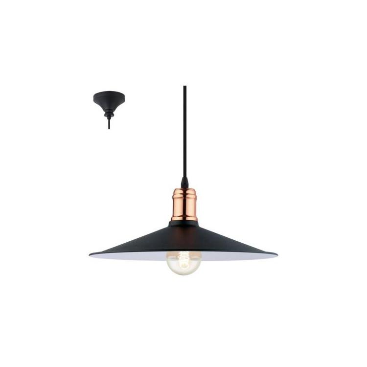 EGLO 49452 BRIDPORTzávěsné svítidlo 1x60W E27. Materiál kov v barvě černé a měď. Označení: BRIDPORT, Výrobce: Eglo, Kód: 4