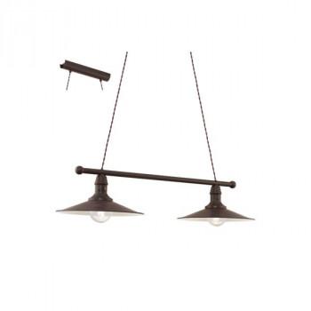 EGLO 49457 STOCKBURYzávěsné svítidlo 2x60W E27. Materiál kov v provedení antická hnědá a béžová. Označení: STOCKBURY, Výro