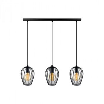 EGLO 49478 NEWTOWNzávěsné svítidlo 3x60W E27. Materiál ocel v černé barvě. Označení: NEWTOWN, Výrobce: Eglo, Kód: 49478.