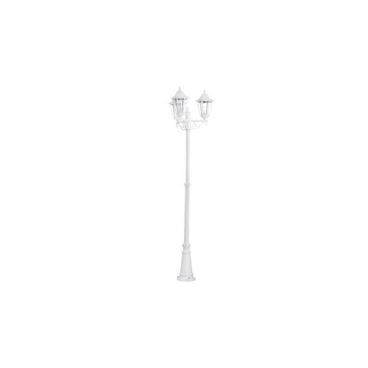 EGLO 93454 NAVEDO venkovní stojací svítidllo.3x60W E27.Lze nahradit LED žárovkou.Litý hliník bílý,průhledné sklo. Barva litý hli