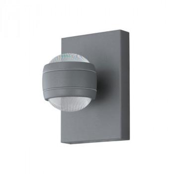 EGLO 94796 SESIMBA venkovní LED nástěnné svítidllo.2x3,7W LED,2x280lm.Galvanizovaná ocel stříbrná,plast čirý. Barva stříbrná.Ozn
