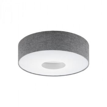 Svítidlo Eglo 95346 ze série ROMAO stropní svítidlo LED 24W, 2700lm, teplá bílá barva světla. Materiál kov matný nikl, textil vz