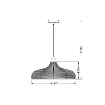 Lucide MOINO - závěsné svítidlo - Ø 48 cm - Měď 71361/48/17