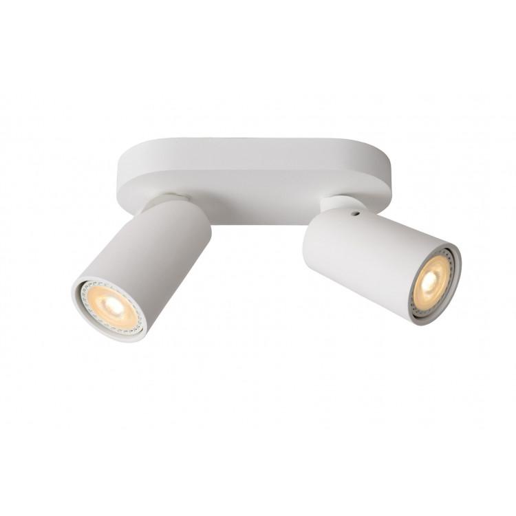 Lucide XYRUS - stropní svítidlo - stmívatelné - GU10 - 2x4,5W 3000K - Bílá 23954/10/31