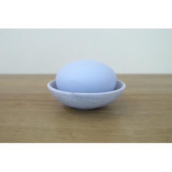 Vonný kámen - modrý se stříbrnou miskou