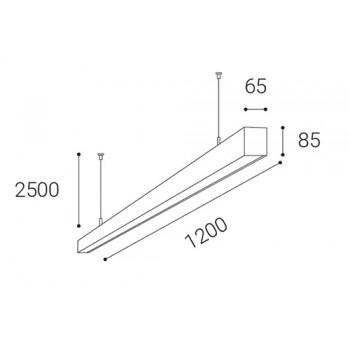 LED2 3312443D LINO LASER 120 P/N-Z, B DIM 32 4000K ZÁVĚSNÉ ČERNÉ